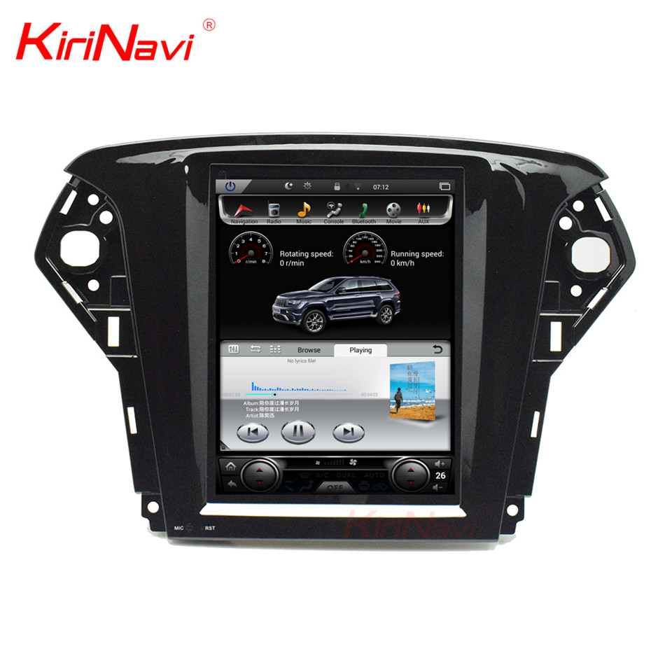 KiriNavi Vertical Screen Tesla Style 10.4 Inch Android 6.0 Car Radio For Ford Mondeo Car DVD Gps Navigation 2007-2012 4G WIFI