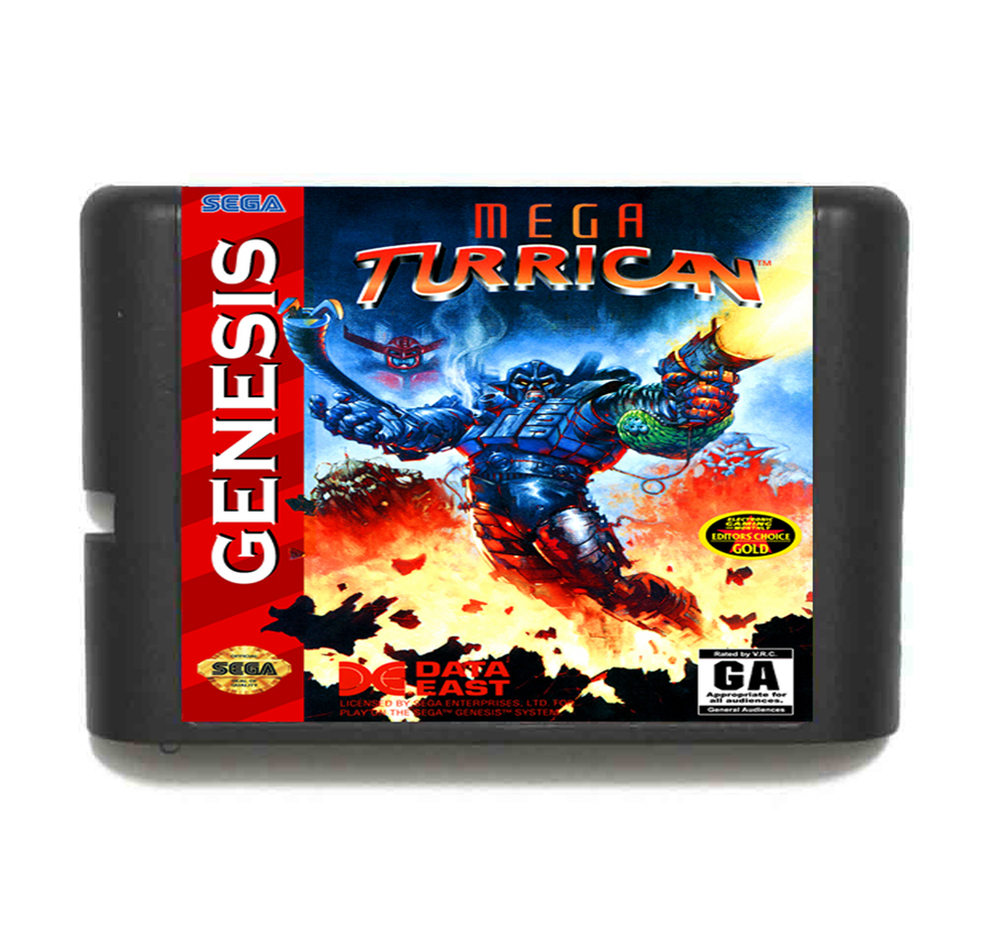 Mega Turrican 16 Bit MD Game Card For Sega Genesis NTSC System mickey mouse castle of illusion