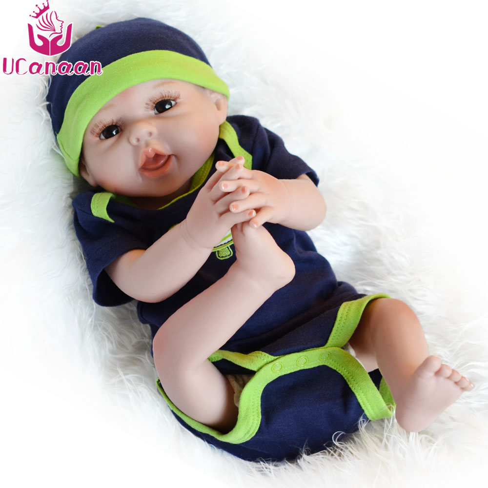 UCanaan 20''/50CM Silicone Boy Baby Newborn Doll Handmade High-end Toys For Girls Playmate Dolls Reborn Bonecas Babies Brinquedo handmade chinese ancient doll tang beauty princess pingyang 1 6 bjd dolls 12 jointed doll toy for girl christmas gift brinquedo