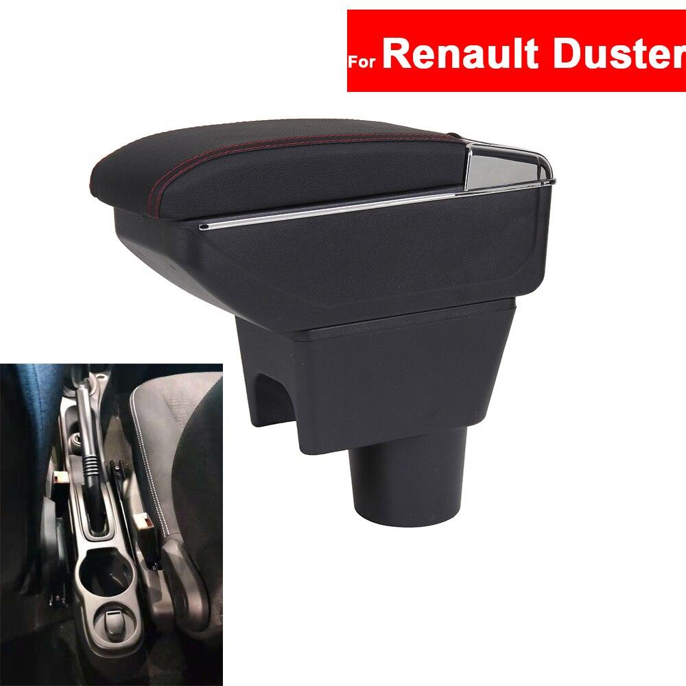 For Renault Duster Car Center Centre Console Storage Central Box Armrest Arm Rest Rotatable Auto Armrests