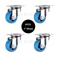 Small Lightweight Casters Size 1inch 25mm PA Nylon Super Mute Wheels Bear 20kg Pcs For Bookcase