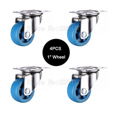 цены Small lightweight casters,size 1inch/25mm,PA nylon,super mute wheels,bear 20kg/pcs,for bookcase drawer flower racks JF1569