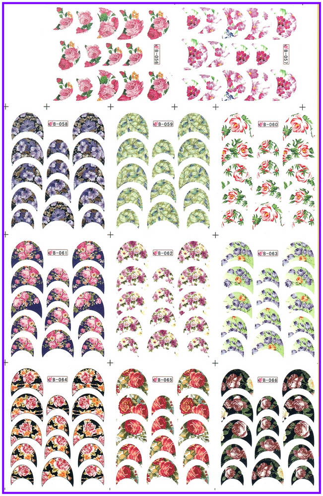 11 PACK/ LOT  WATER DECAL NAIL ART NAIL STICKER FLOWER FRENCH SMILE LACE B056-066 серьги polina selezneva серьги ps by polina selezneva