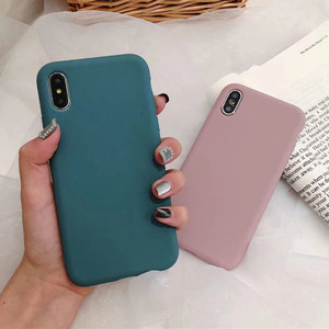 Ultra thin Solid Color Green Cases Phone Cover For Huawei Nova 3 2S Mate 20 10 Pro Honor 9 10 Soft TPU For Huawei P10 P20 Pro(China)