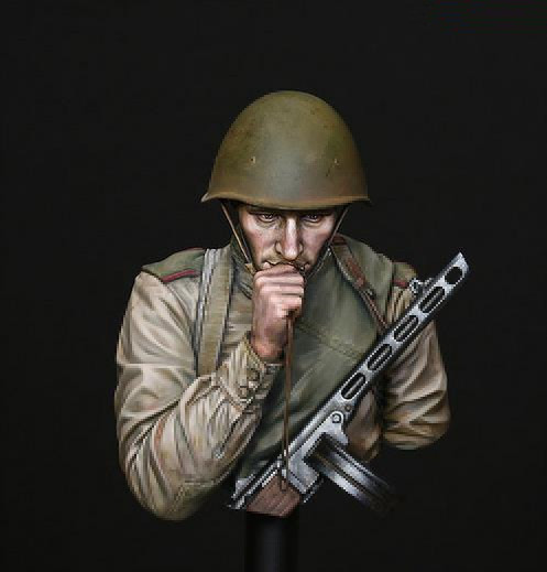 купить pre order-Resin toys LM-B011 'On The Edge of No Man's Land' WW2 Young Red Army Infantryman, Battle of Kursk Free shipping в интернет-магазине