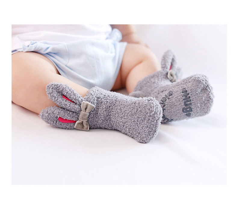 Children Boys Girls Autumn and Winter Warm New Cute Alpaca Socks Five Pairs