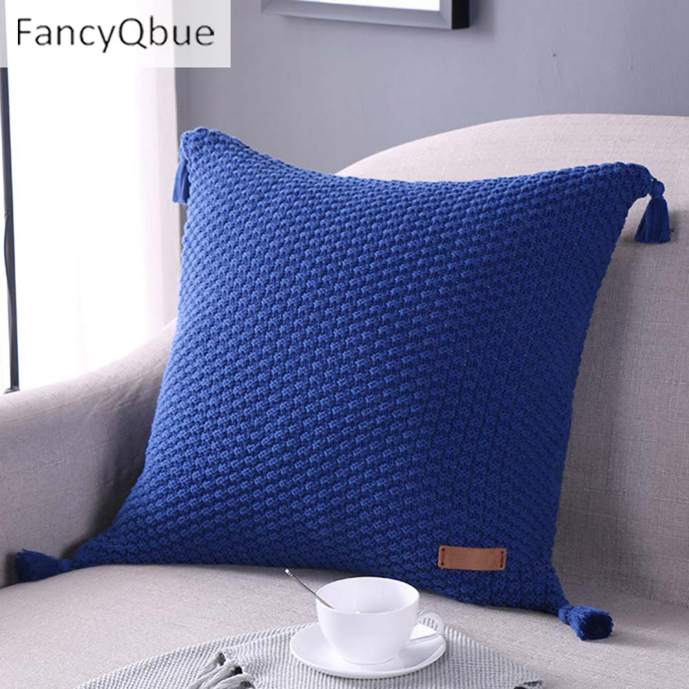 New Tassel Cushion Covers Home Decoration Pillow Case Photography Props 45 x 45 cm