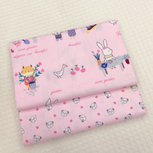 100% Cotton Fabric Pink Printing Patchwork Textile Twill DIY Sewing Quilting Infant Clothing Bed Linen