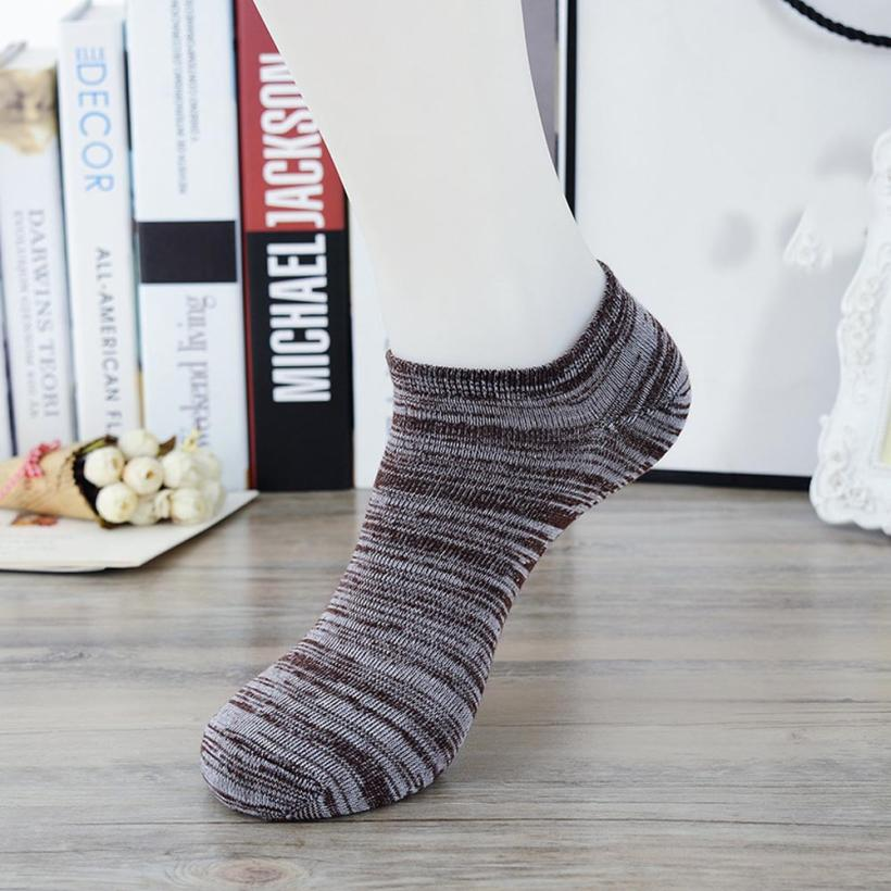 MUQGEW 2017 Fashion 1 Pairs Men' s Casual Comfortable Patchwork Cotton Sock Slippers soft Short  Ankle Socks masculinas meias