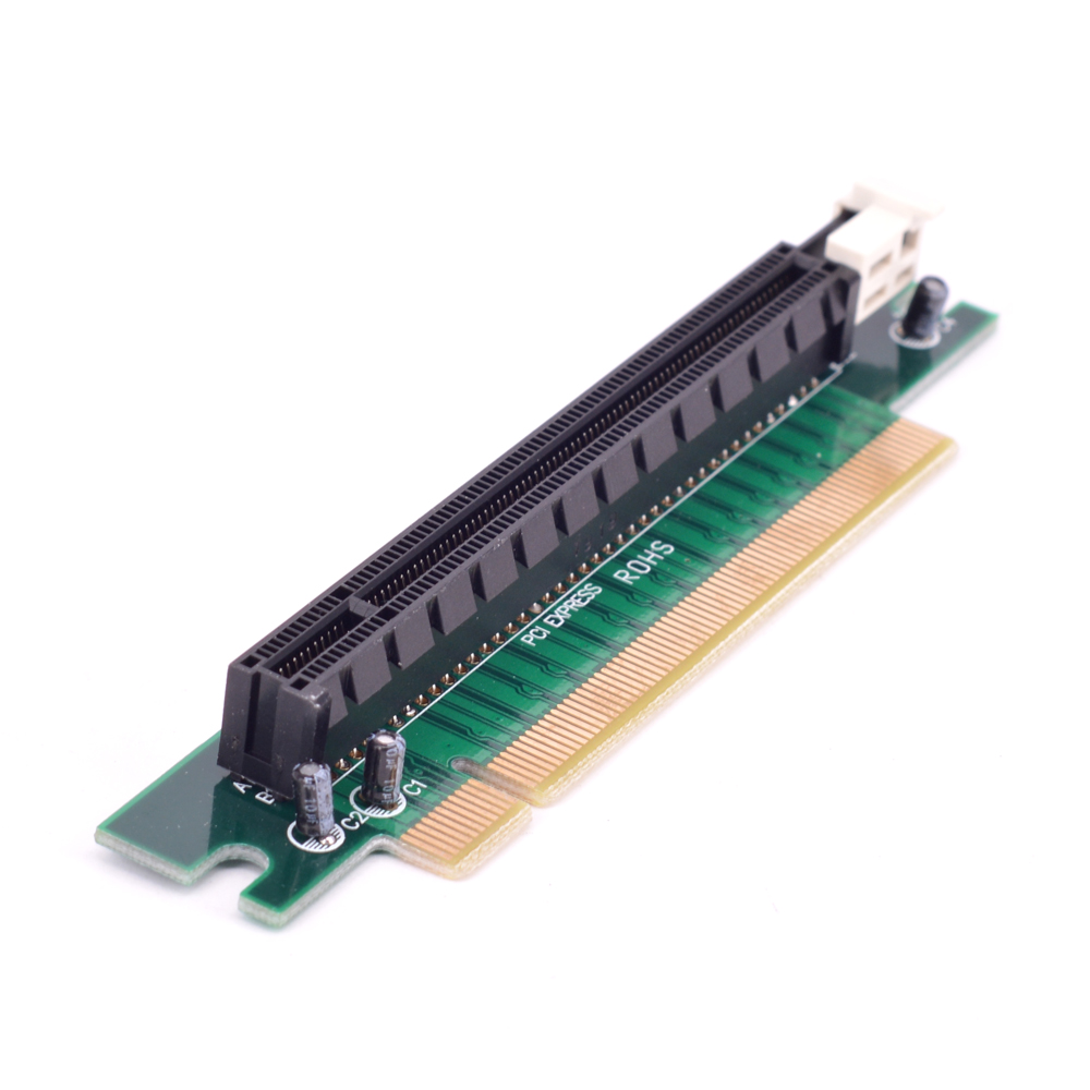 90 Degree PCI Express 16x Male To Female Riser Card Right Angle PCI-E X16 To 16x Slot Protect Tool Adapter 1U 2U PC Server Case