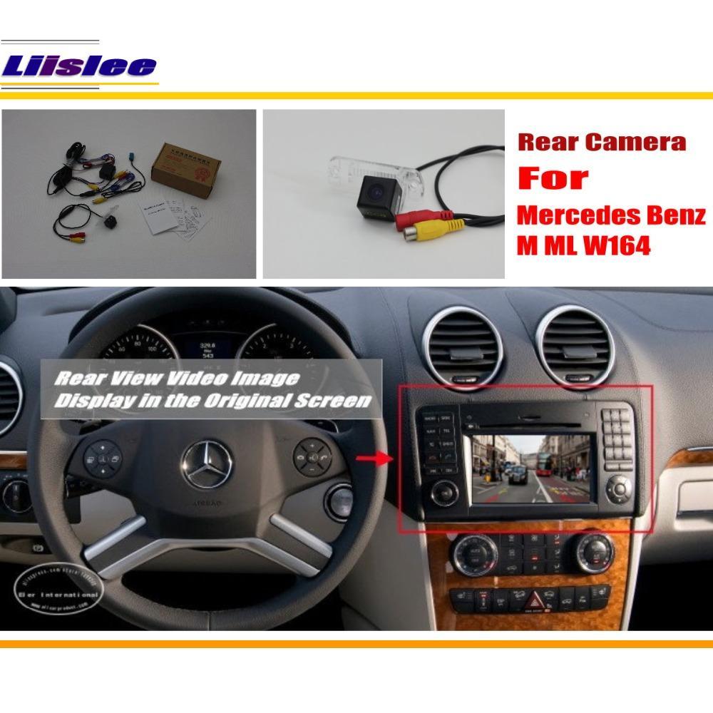 Camera Liislee cu cameră de mers înapoi pentru camera spate pentru Mercedes Benz M Class W164 ML450 ML350 ML300 ML250 / Original ecran Compatibil