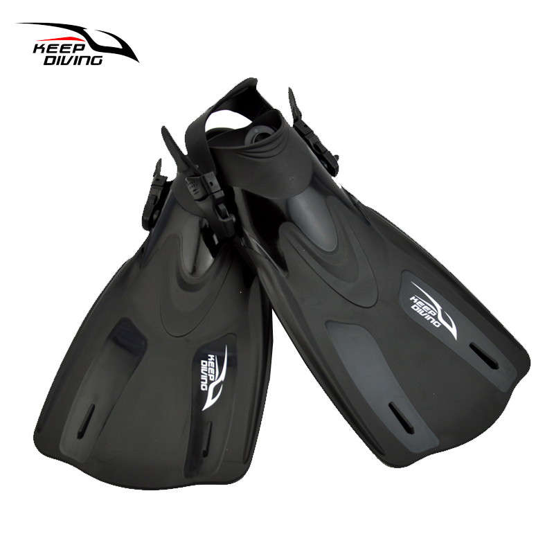 KEEP DIVING Adjustable Scuba Diving Fins For Adult Women Or Men Swimming Training Equipment Monofin Shoes Snorkeling Flippers diving equipment