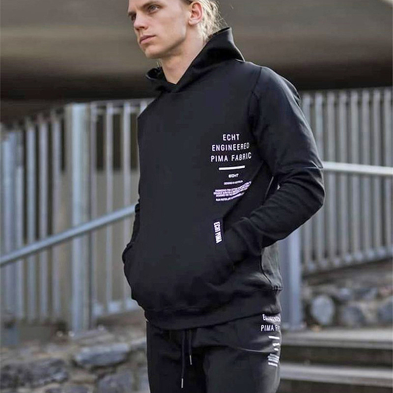 FRMARO Men Brand Hoodies Fashion Casual gyms fitness Hooded jacket male cotton Sweatshirts sportswear clothing in Hoodies amp Sweatshirts from Men 39 s Clothing