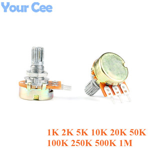 10 pces wh148 potenciômetro b1k b2k b5k b10k b20k b50k b100k b250k b500k b1m 3pin 15mm 1 k 2 k 5 k 10 k 20 k 50 k 100 k 250 k 500 k 1 m