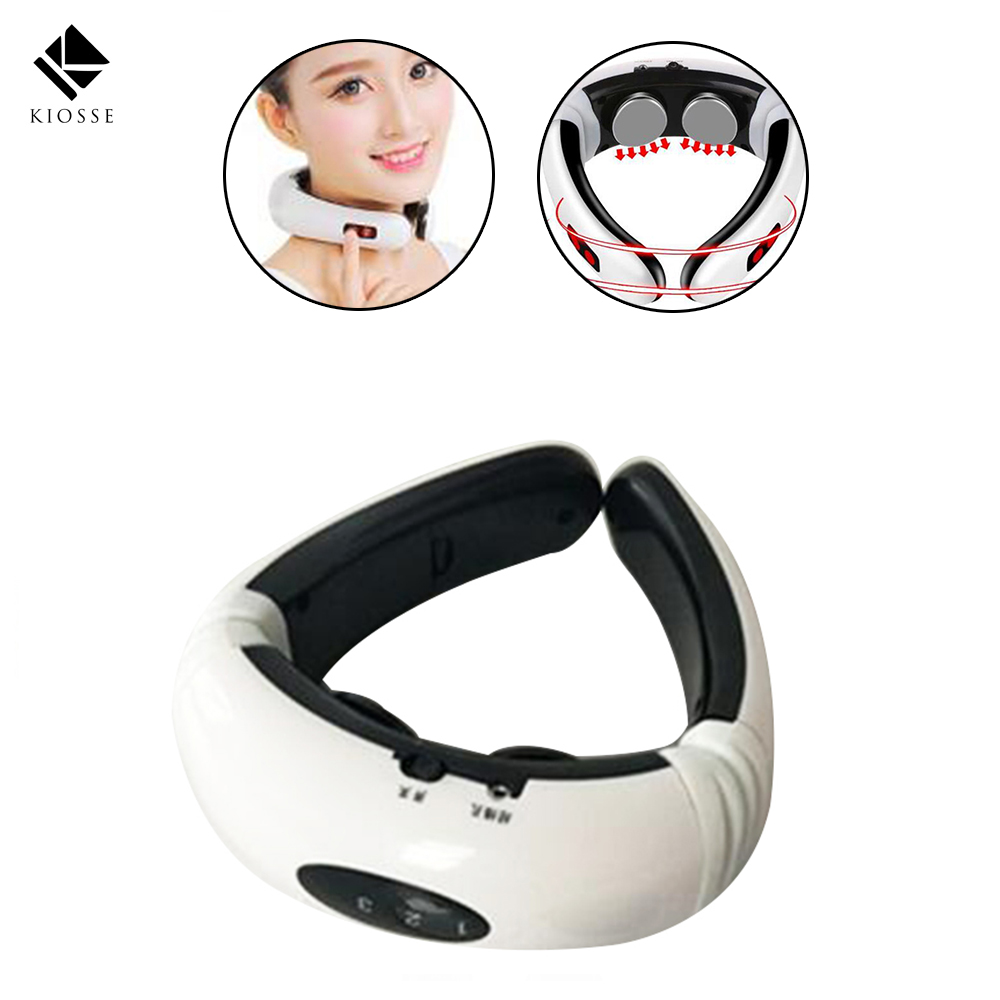 Electric pulse Back Neck massager Cervical Vertebra Treatment Instrument Acupuncture magnetic therapy Neck pillow massager A271 wireless remote control neck massager acupuncture magnetic cervical therapy cervical vertebra treatment instrument health care