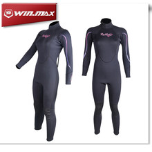 Winmax Women Neoprene Fabric 2MM One-Piece Long Sleeves Diving Wetsuit Motorboat Suit Nylon UV Surf Sailboat Full Wetsuit(China)
