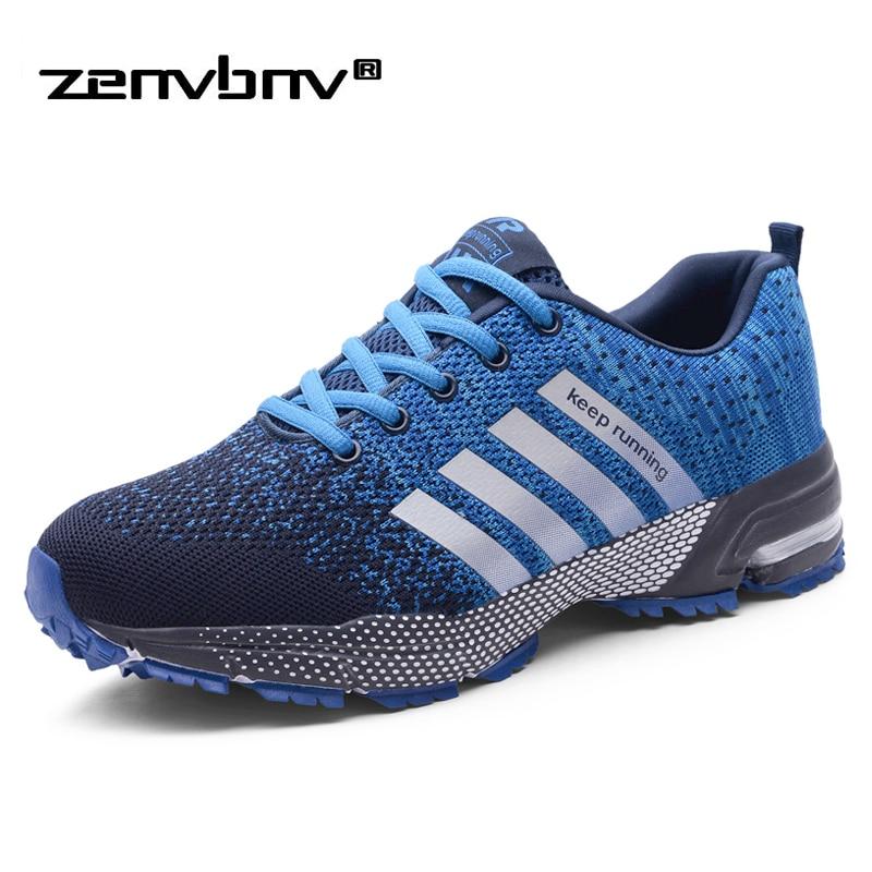 Sapatas dos homens Plus Size 47 Homens Sapatos Casuais de Alta Qualidade 2019 Primavera Outono Tênis Malha Respirável Leve Masculino Formadores 46 48