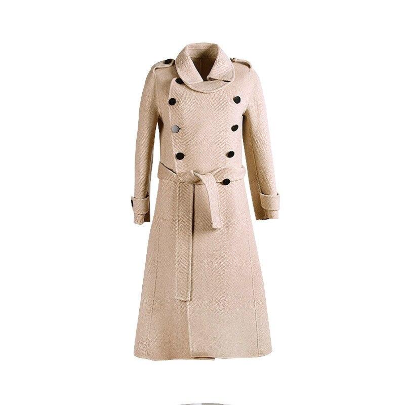 D'hiver ManteauxHaut En ManteauManteaux Mode Femme Nouveau Beige ManteauLong Grande 2019 Taille De Gamme Laine nwmvN80