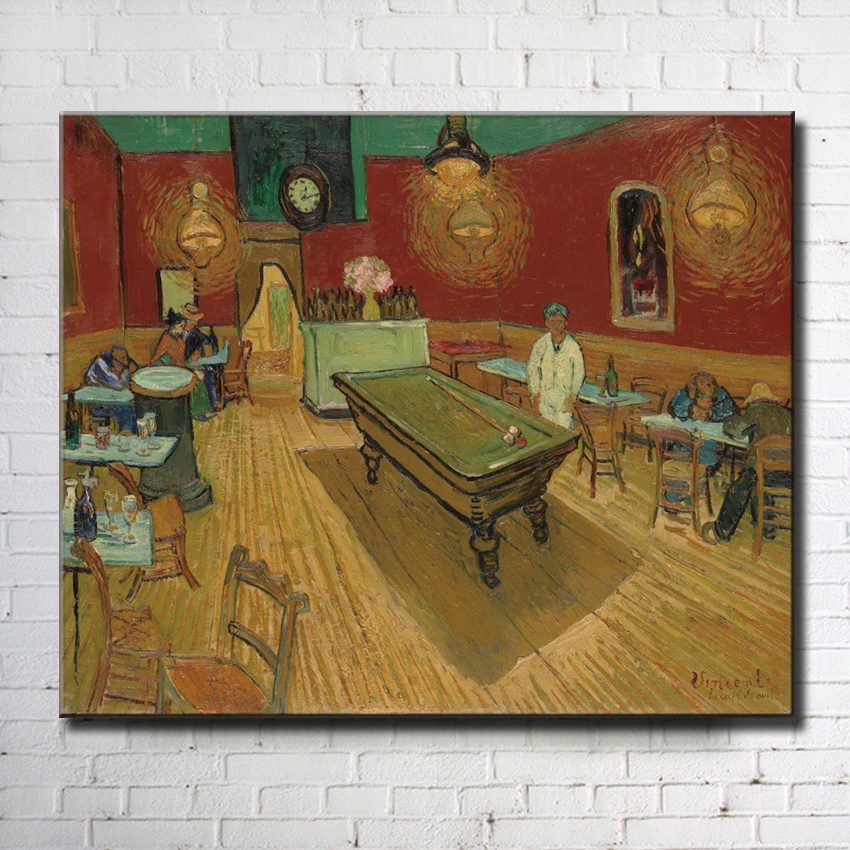 impression Van indoor pool table landscape canvas printings oil painting printed on canvas wall art decoration picture no frame