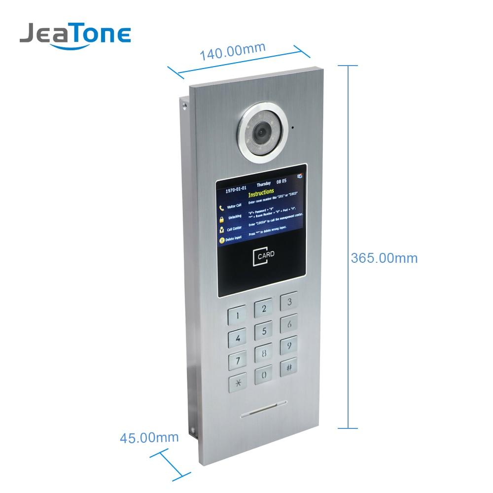 Video Door Phone Door Bell Camera IP Call Panel High Resolution Doorbell Waterproof Support Password/IC Card For Large Building