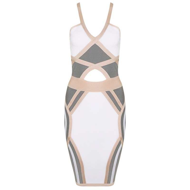 2017 new style Summer spaghetti strap two pieces sexy and elegant Women Summer bandage Dress
