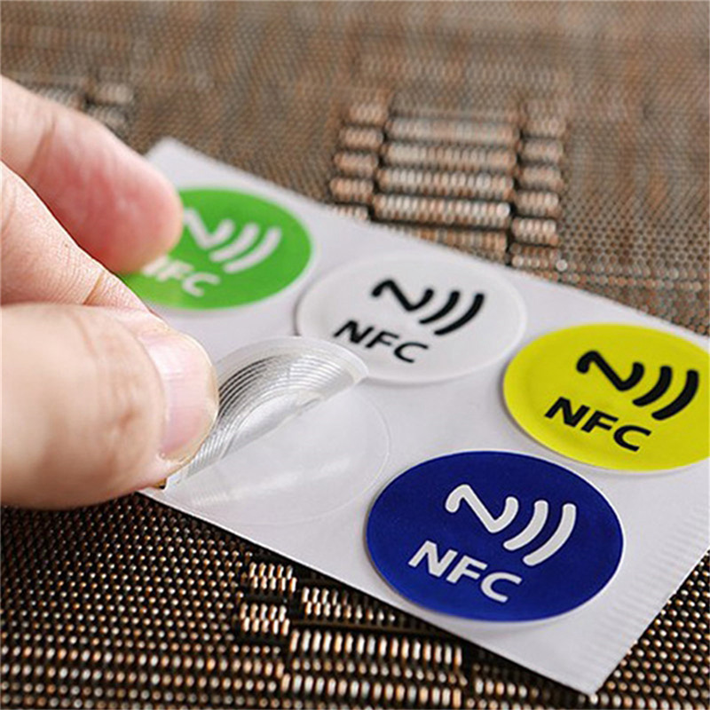 Small NDEF Ntag213 13.56mhz RFID Smart Card <font><b>NFC</b></font> <font><b>Tags</b></font> programmable <font><b>NFC</b></font> Chip Layer Label <font><b>Sticker</b></font> Compatible with all <font><b>NFC</b></font> Phone image