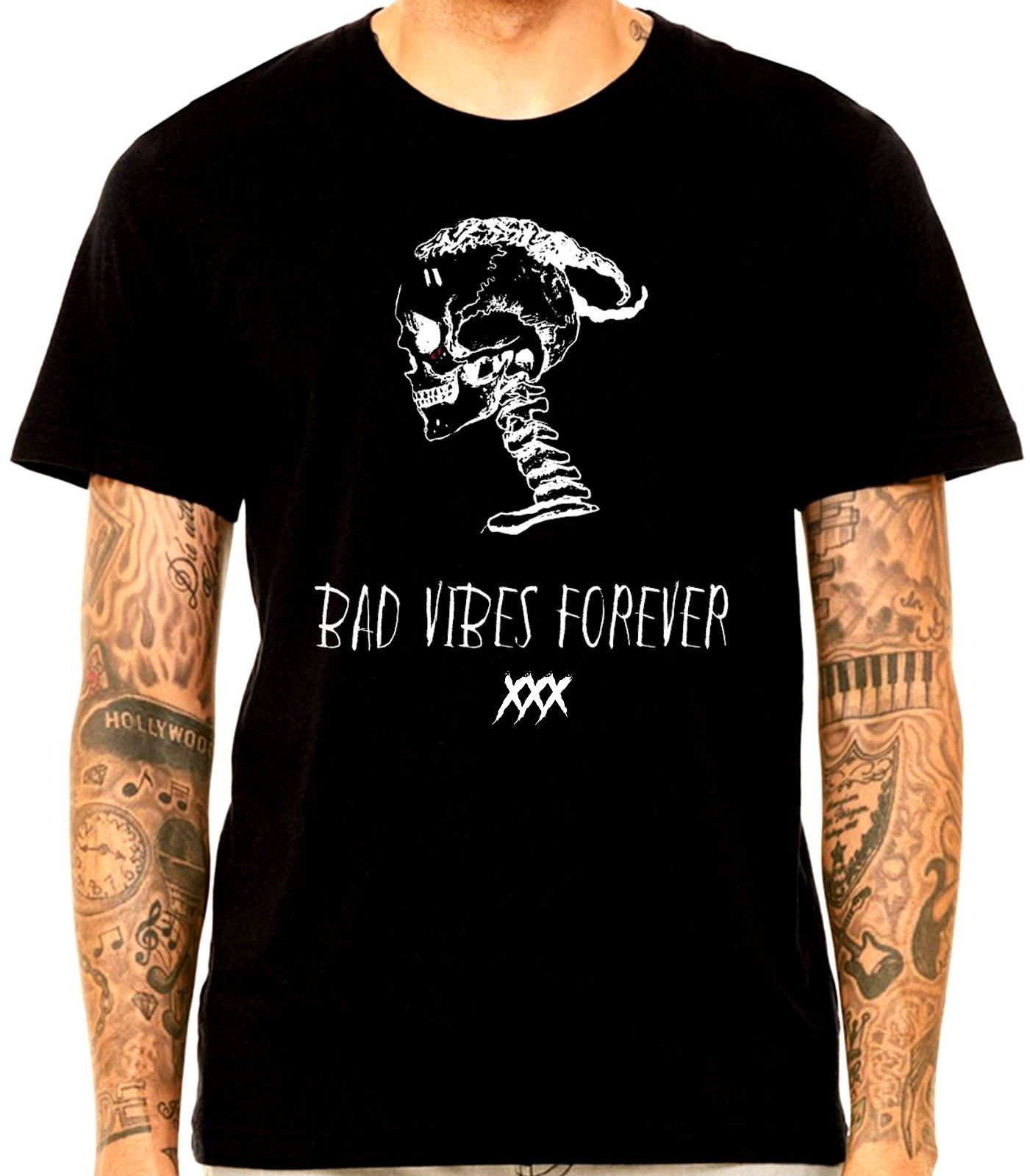XXX Tentacion Bad Vibes Forever 03 REVENGE /'KILL/' HOODIE Men Print Long Sleeve