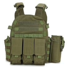 цена на 6094 Men Combat Military Vest Airsoft CS Paintball Body Armor Shooting Hunting Vest Army Tactical Vest