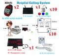 Беспроводная система вызова медсестры 1 комплект с 1 приемником + 2 наручных часов + 10 зуммеров вызова + 10 ламп + 1 повторитель Бесплатная доста...