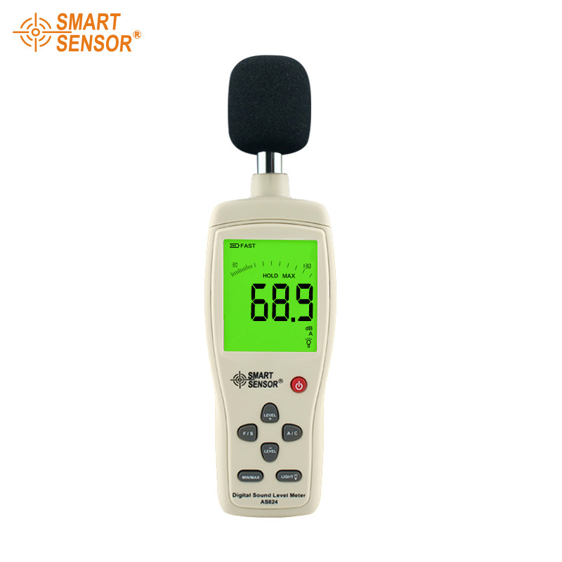 AS824 Handheld larger LCD screen display digital sound level meter noise decibel meter 30~130 dB Noise meter (5)