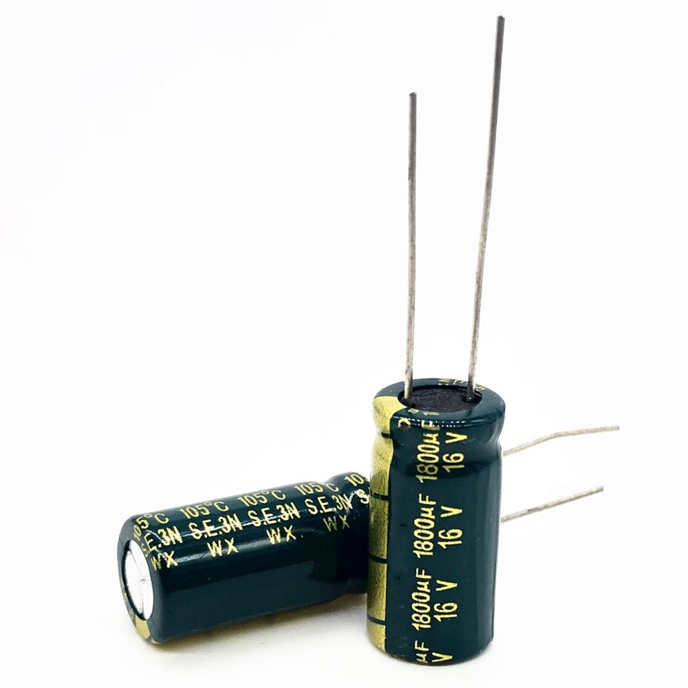 16V 1800UF 10*20  High Frequency Low Impedance Aluminum Electrolytic Capacitor1800uf 16v 20%