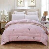 Взрослых детей полный/Queen/King Size 100% хлопок одеяло Подушки устанавливает толстые теплые Пледы Одеяло для Зима/ осень/лето