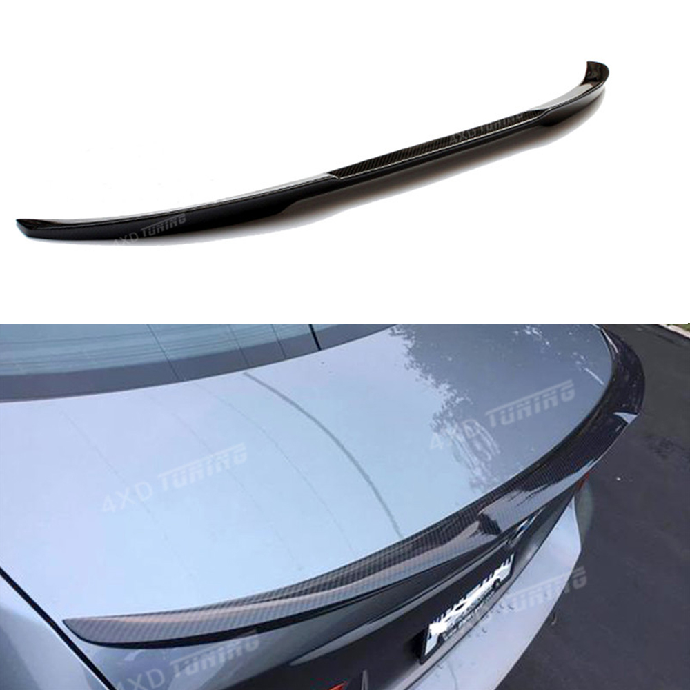 For BMW E92 Spoiler M4 Style 3 Series E92 & E92 M3 Carbon Fiber Rear Spoiler Trunk Wing Coupe 2-doors 2005 2006-2010 2011 2012 mercedes carbon fiber trunk amg style spoiler fit for benz e class w207 2 door 2010 2015 coupe convertible vehicles