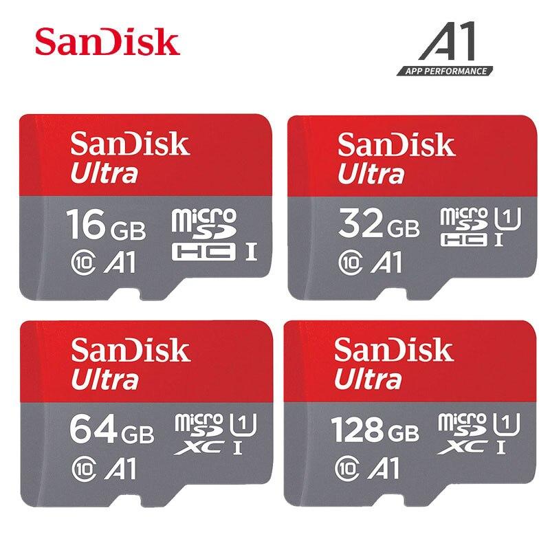 Cartão de memória ultra a1 do microsd de sandisk 256 gb 128 gb 64 gb 32 16 gb microsdhc/sdxc UHS-I u3 v30 tf cartão micro sd cartão de memória