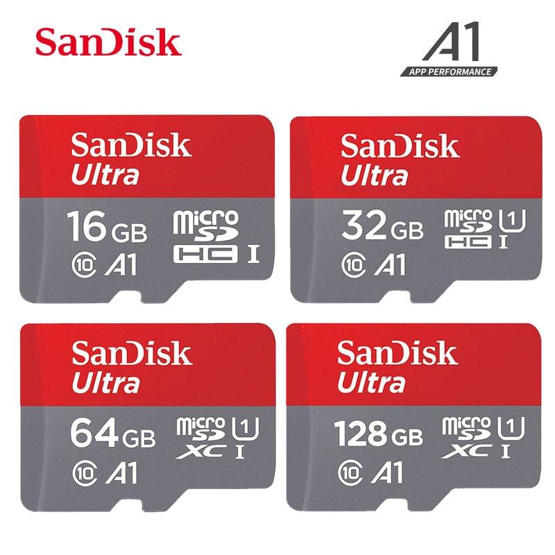 SanDisk Ultra A1 Microsd Memory Card 200GB 128GB 64GB 32GB 16GB microSDHC/SDXC UHS-I 98MB/s TF Card micro sd cartao de memoria