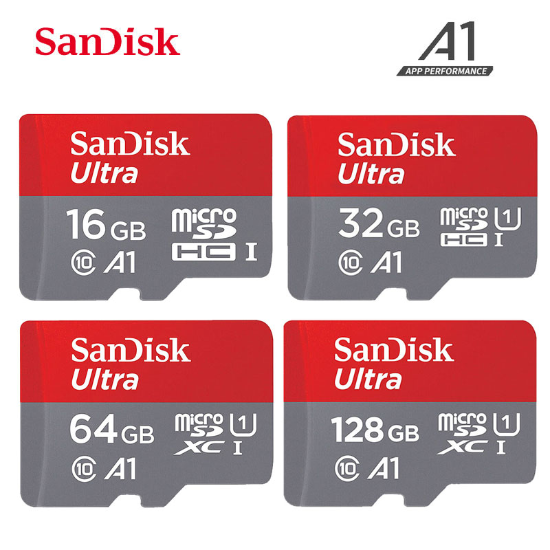 SanDisk Ultra A1 Microsd Memory Card 256GB 128GB 64GB 32GB 16GB MicroSDHC/SDXC UHS-I U3 V30 TF Card Micro Sd Cartao De Memoria