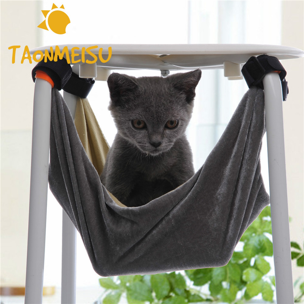 High Quality Pet Kitten Cat Hammock Removable Hanging Soft Bed Cages for Chair Kitty Rat Small Pets Swing 2 Colors