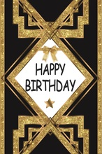 Laeacco Glitters Bow Star Happy Birthday Party Poster Photography Backgrounds Customized Photographic Backdrops For Photo Studio