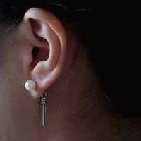 ROCKART Pure 925 Sterling Silver Vintage Trendy Flower Tassel Dangle Earrings For Women Fine Jewelry Wholesale