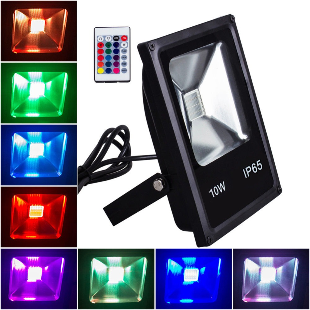20//30//50W 16 Colours RGB LED Flood light Outdoor Garden Lamp Security Waterproof