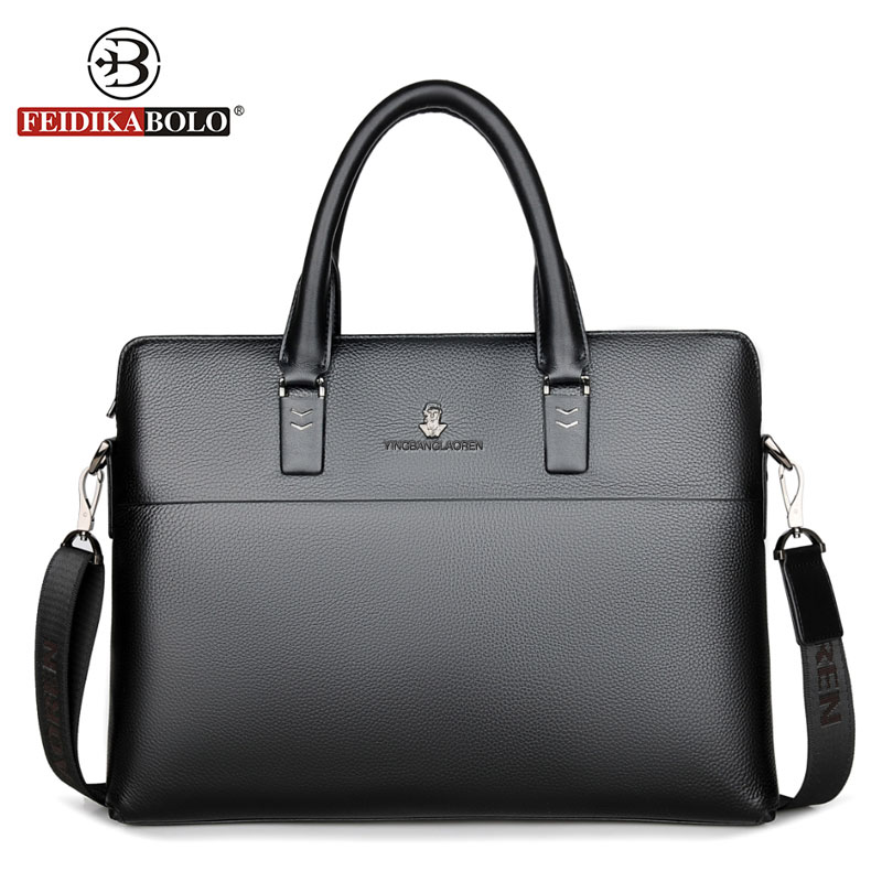 Men Handbags Famous Genuine Leather Briefcase NewFashion Shoulder Bags Vintage Crossbody Satchel Man Tote Bag Men Messenger Bags a suit of stylish rhinestone hollow out heart oval necklace bracelet ring and earrings for women