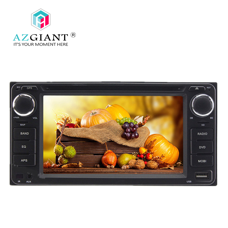 AZGIANT Car MP4 MP5 Player 2 Din Android Car DVD Player Stereo Radio Head Unit For Toyota Corolla Camry RAV4 Prado Hilux