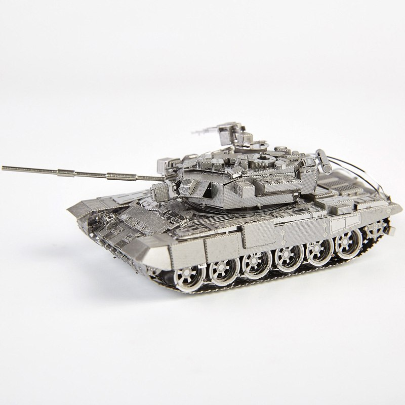 Piececool Rusia T-90A Tank DIY 3d Metal Nano Puzzle Assemble Model Kit P047-S Laser Cut Jigsaw Toys