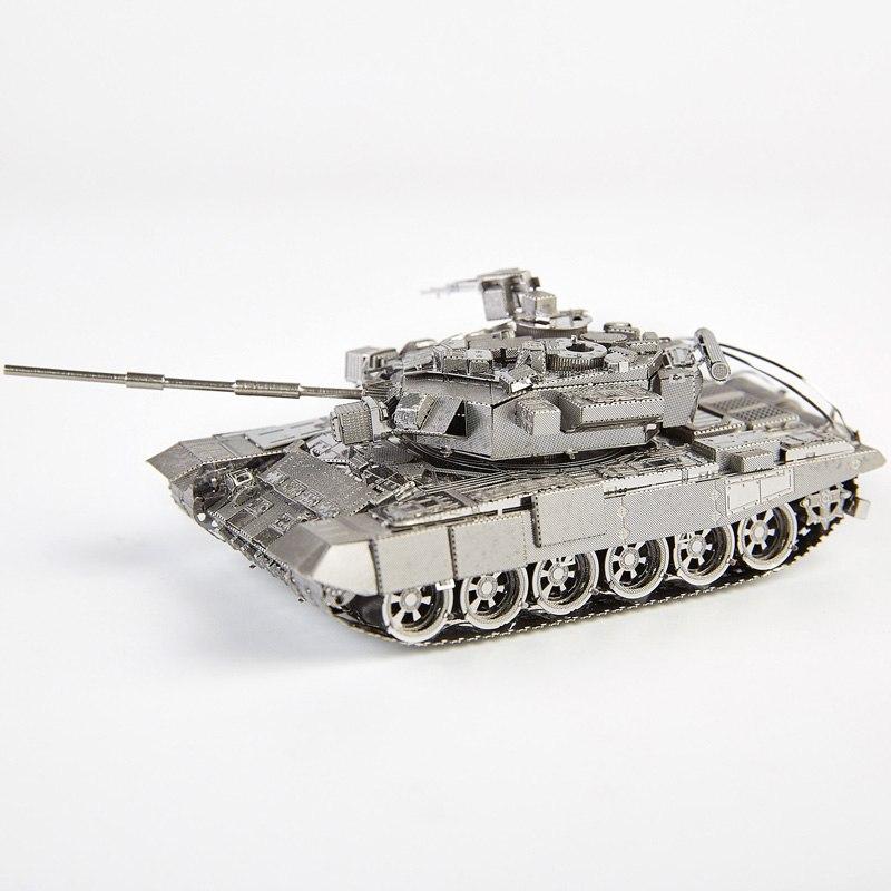 Piececool Ресей T-90A танкі DIY 3d металды нано-пазлы құрастыру модель жиынтықтары P047-S лазерлік кесуге арналған ойыншықтар