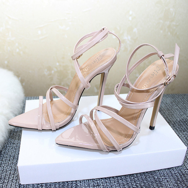 SAGACE Shoes Women Fashion Solid Pointed Toe High Heel Thin Heels Sandals Party Wedding Classics new shoes woman 2018dec8