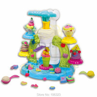 New Style Patisserie Creative Colors Dough Create Modeling Whirlwind Ice Cream Playdough Game Toys Training Child