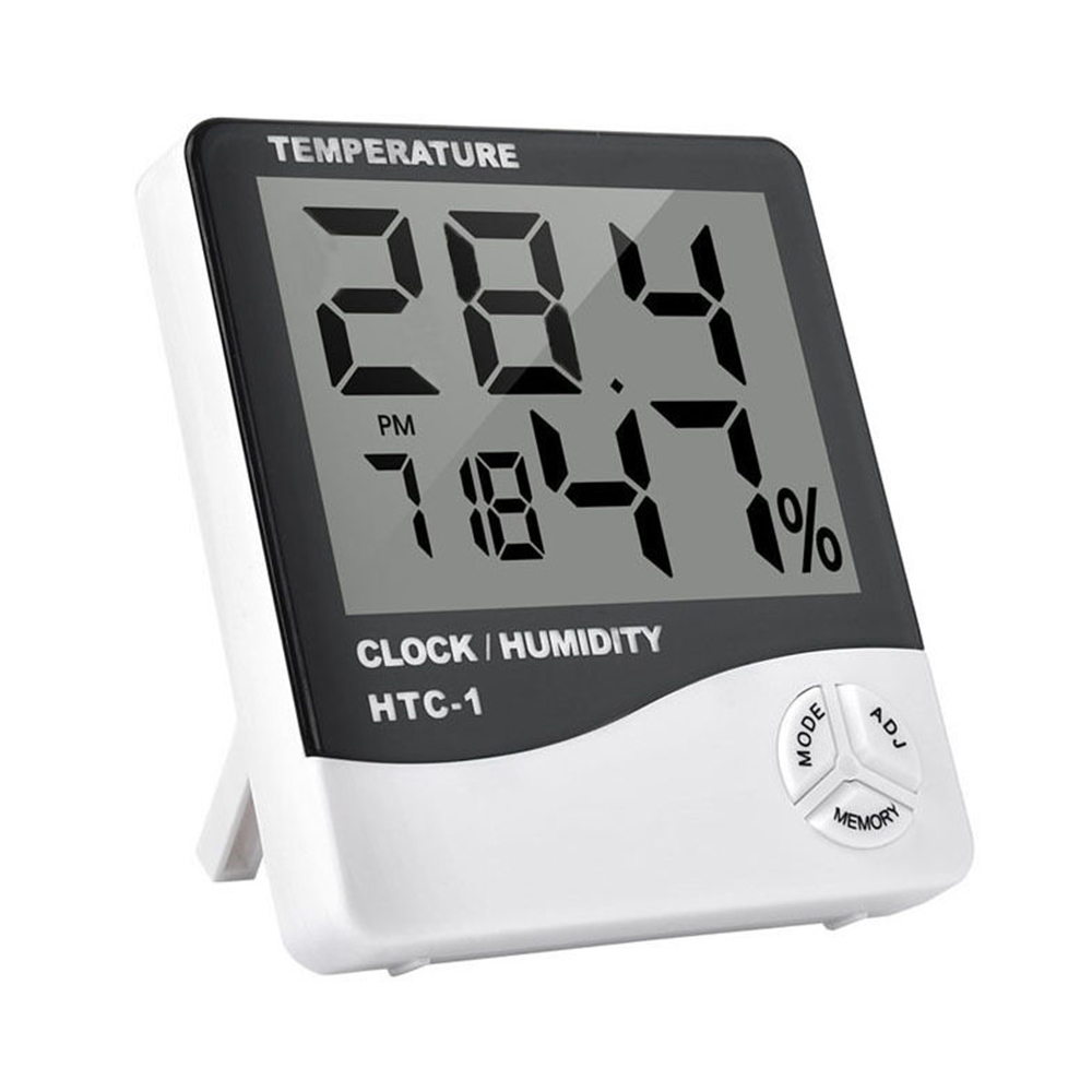 Electronic LCD Digital Temperature Humidity Meter Indoor Outdoor Weather Station