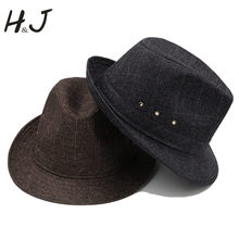 Men Fedora hat with 4Size 57 58 59 60CM Big Size Gentleman Dad Beach Homburg Church Jazz Hat Father Gift A0064-XSJ(China)