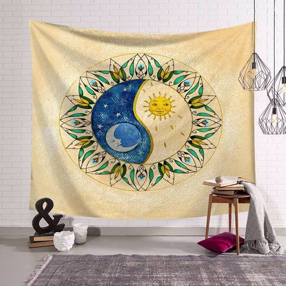 Cactus Tapestries Green Plant Flower Pineapple Wall Hanging Moroccan ...
