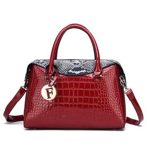 2019 Новая Мода Аллигатор женские сумки Европейский дизайн кожаные женские сумки на плечо Женская Девушка брендовая роскошная сумка через пл...